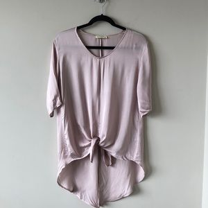 STRAK X Silky Knot Front Blouse -XS